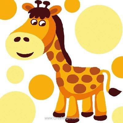 Kit canevas a broder pour enfants Luc Création girafe