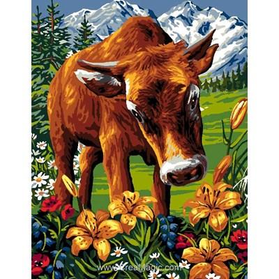 Luc Création canevas la vache des montagne