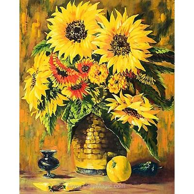 Kit broderie diamant still life sunflowers - Diamond Painting