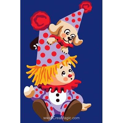 Canevas Collection d'art doudous clowns
