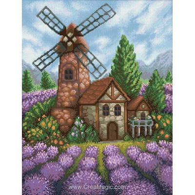 Kit broderie diamant Diamond Painting old windmill