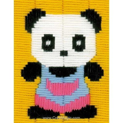 Le petit panda kit canevas point lance - Vervaco