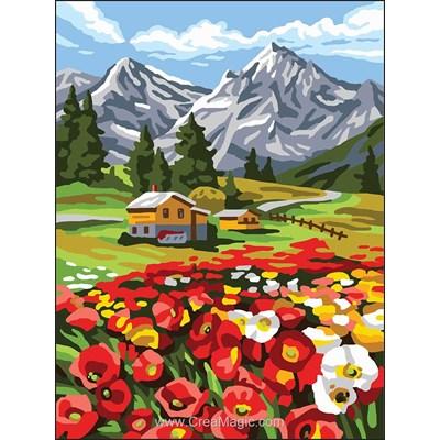 Au pied de la montagne canevas - Collection d'art