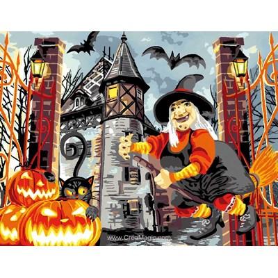 Canevas ambiance halloween de Luc Création