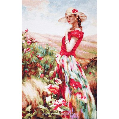 Kit demoiselle à la robe aux fleurs - Luca-S