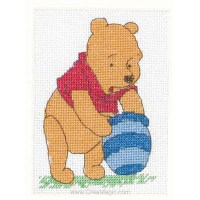Broderie le pot de miel vide de winnie disney d'Anchor