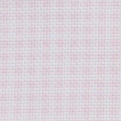 Toile aida 5.5 pts imprimée rose carreaux vierge à broder - DMC