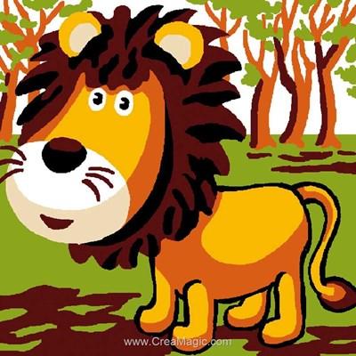 Kit canevas a broder pour enfants lion - Luc Création
