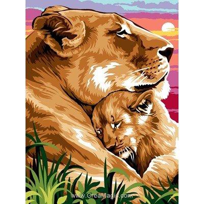 Câliner son lionceau canevas - Margot
