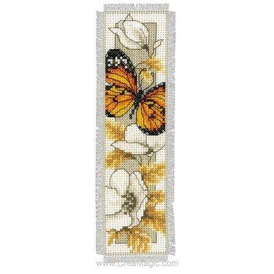 Marque pages papillon d'automne 1 à broder Vervaco
