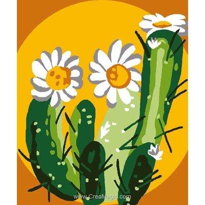 Canevas kit enfant complet cactus en fleurs de Luc Création