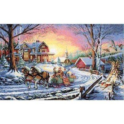Kit au point de croix compté pleasures winter de Dimensions