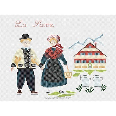 Kit broderie traditionnelle Marie Coeur costumes traditionnels de savoie