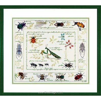 Kit à broder au point de croix Le Bonheur Des Dames les insectes