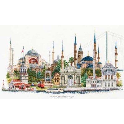 Broderie au point de croix point compté Thea Gouverneur istanbul sur aida