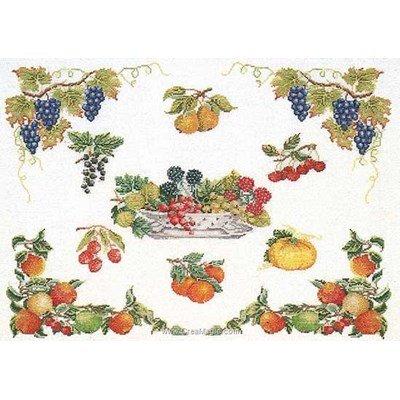 Broderie panneau floral sur lin de Thea Gouverneur