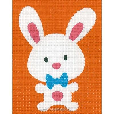 Canevas kit enfant complet Vervaco lapin chouette
