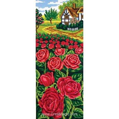 Canevas champs de roses de Collection d'art