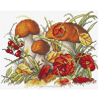 Champignons et feuilles d'automne kit - MP Studia
