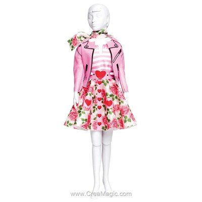 Couture set lucy roses DRESS YOUR DOLL pour barbie