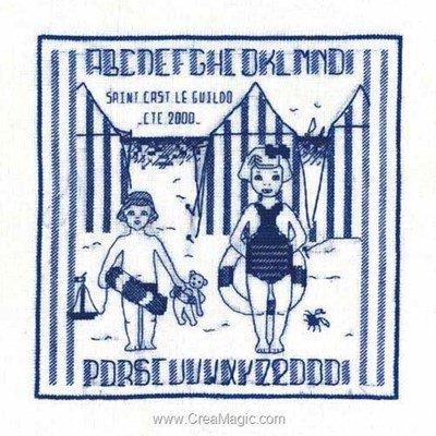 Modèle broderie au point de croix mer - saint cast 2000 de Le Bonheur Des Dames