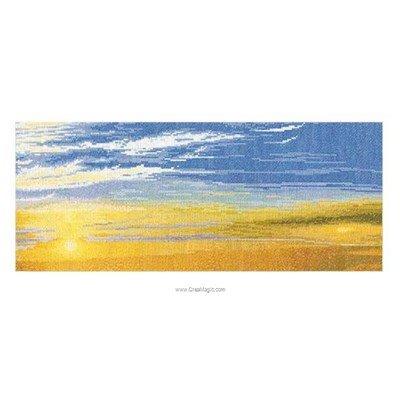 Au coucher du soleil sur aida broderie point de croix - Thea Gouverneur