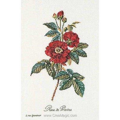 Kit Thea Gouverneur à broder rose van spaendonck sur lin