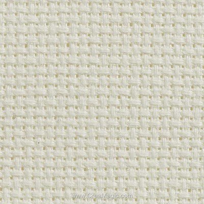 Toile aida 5.5 pts blanc antique - gold standard de Charles Craft