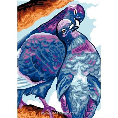 Pigeons canevas - Luc Création