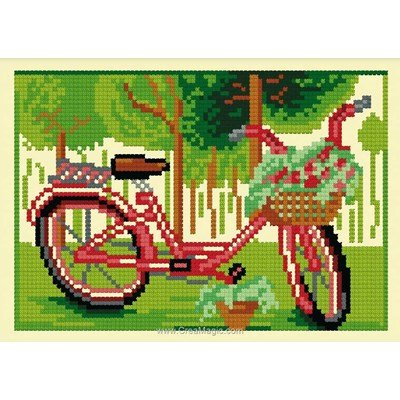 Kit broderie de Luc Création au point de croix bicyclette d'été