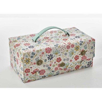 Boîte à couture en tissu boite couture in the garden - DMC