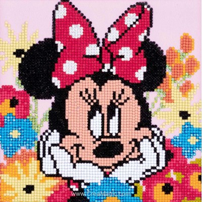 Kit broderie diamant Vervaco disney minnie rêvasse