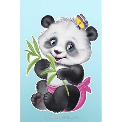 Broderie diamant Wizardi mon bébé panda