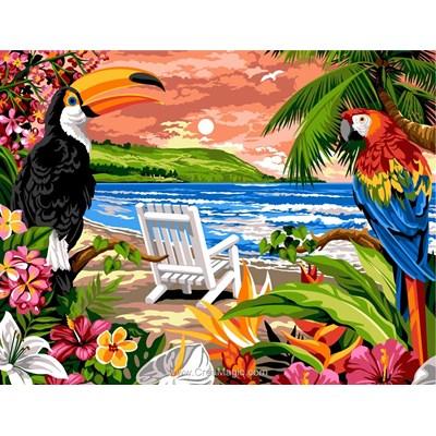 Margot canevas plage tropicale en été