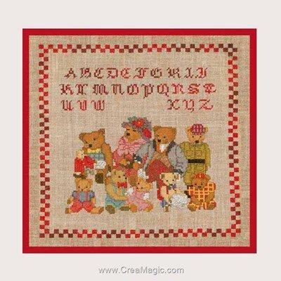 Point de croix la famille oursons - Le Bonheur Des Dames