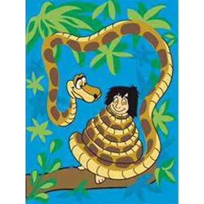 Canevas DMC l'hypnose de mowgli - disney