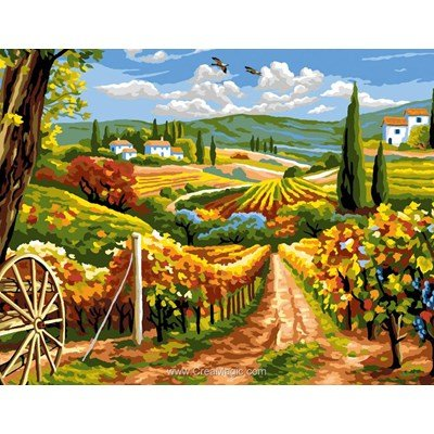 Rafael Angelot canevas la vignes