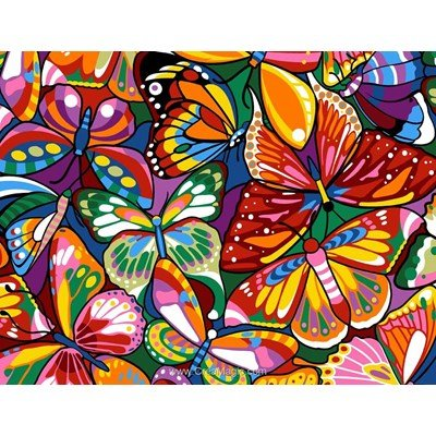 Margot canevas colored butterflies
