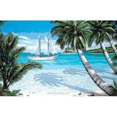 Tropiques canevas chez Margot