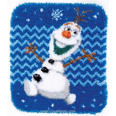 Kit tapis point noué Vervaco olaf reine des neiges disney