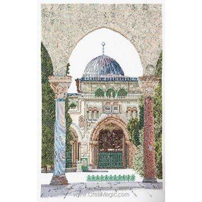 Kit broderie point compté al-aqsa mosque sur lin de Thea Gouverneur