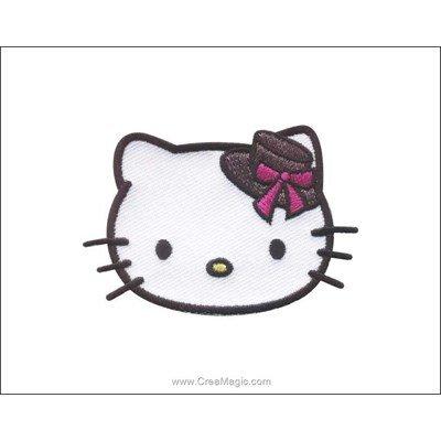 Ecusson brodé hello kitty portrait chapeau de MLWD