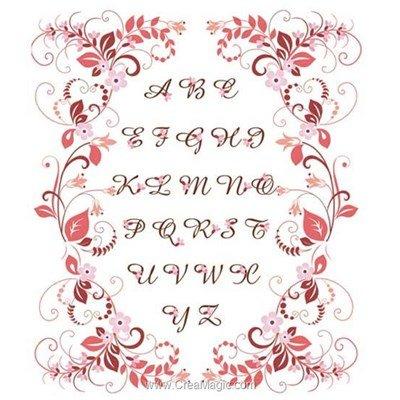 Kit broderie imprimée abc rouge - Princesse