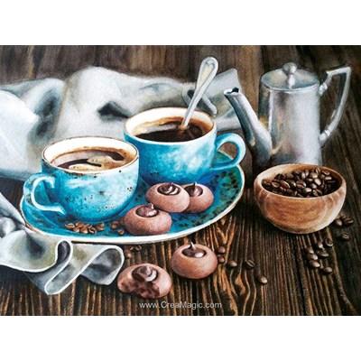 Kit broderie diamant coffee romance de Diamond Painting