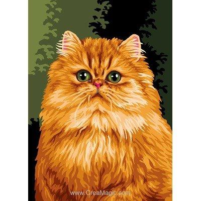 Canevas Luc Création chat persan jaune