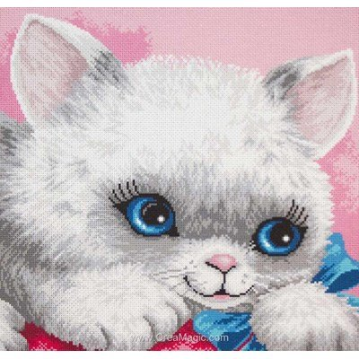 Kit broderie aida imprimée chaton kitten - Collection d'art