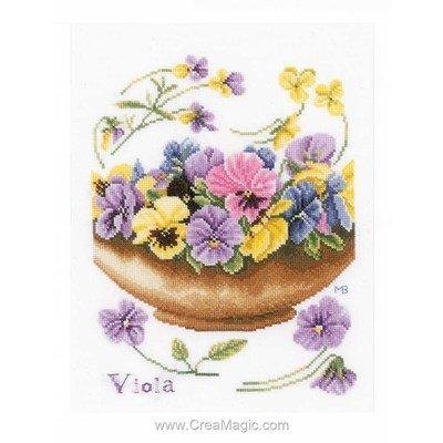 Kit Lanarte potée charmante de violettes
