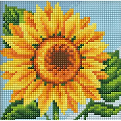 Broderie diamant sunflower - Diamond Painting