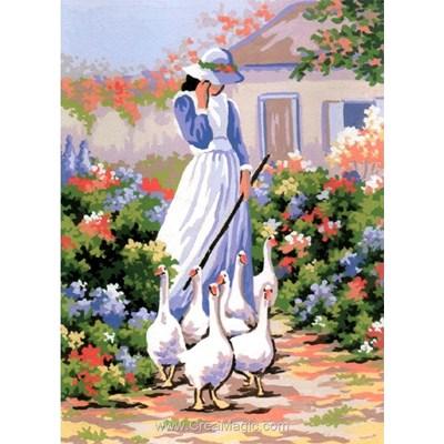 Collection d'art canevas la gardienne des oies