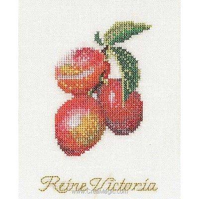 Kit Thea Gouverneur à broder prune sur lin